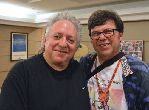 l-r Chet Catallo, master guitarist, musician, composer, producer and teacher with David Boyer, photographer. Chet Catallo composed, produced and played with Spyro Gyra from Buffalo NY. He is a six time Grammy nominee. Now he is featuring,